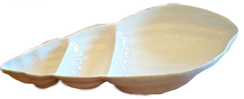 Seashell Shaped Divided Apertif Dish