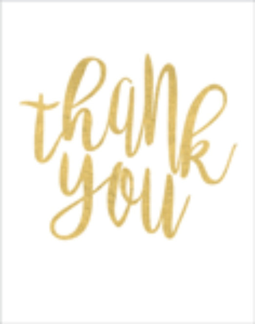 Gift Insert Card with Envelope - Thank You
