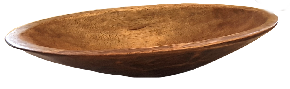 Xtra Large Oval Bowl - Single Piece of Wood