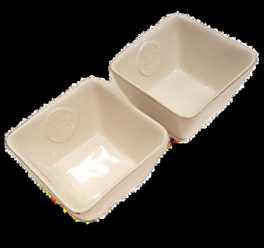 Square Ceramic Ramekin - set 2