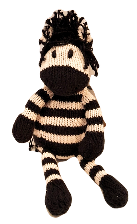 Zebra Kenyan Knit Toy