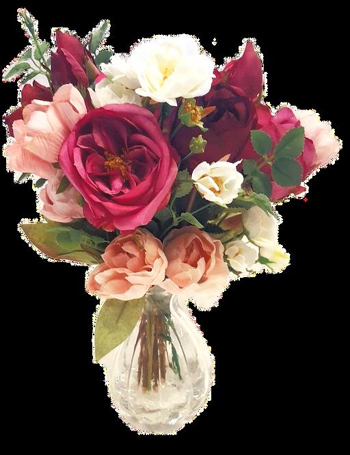 Silk Flower Arrangement Rose & Peony