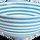 Thumbnail: Striped Large Serving Bowl - Aqua & White