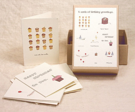 Box of Mini Birthday Cards/Gift Inserts