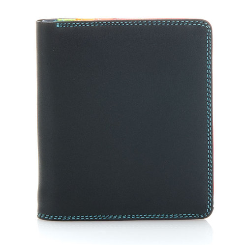Men's Standard RFID Black Pace Wallet with Bright Color Interior