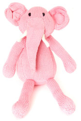 Icing Pink Knit Kenyan Elephant 'Gentle Tembo' Toy