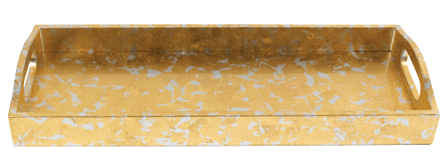 Gold and Silver Leaf Lacquer Bar Tray