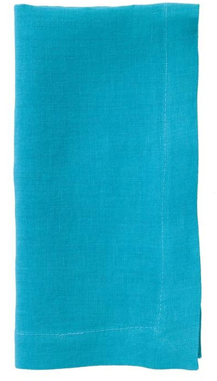 Riviera Stone Washed Linen Napkin - Turquoise - Set of 6