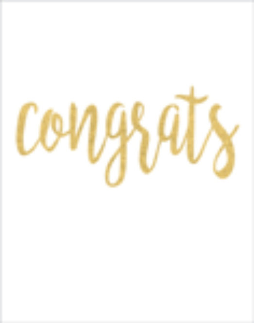 Gift Insert Card with Envelope - Congrats