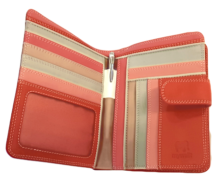 Colorful Leather Compact Mega Wallet