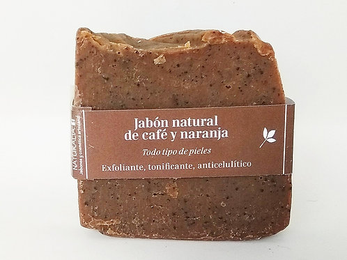 Jabón natural de Café y Naranja