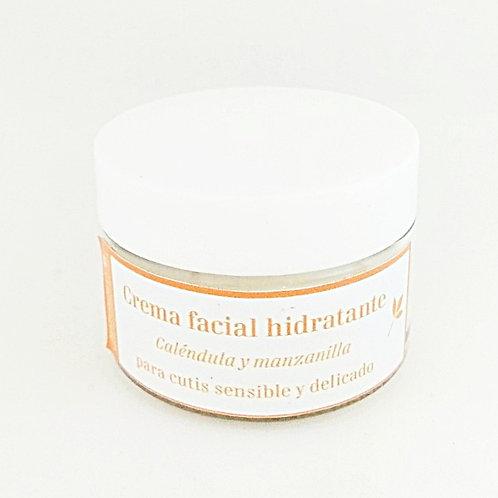 Crema facial de Caléndula y Manzanilla