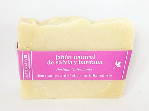 Jabón natural de Salvia y Bardana