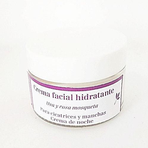 Crema facial para manchas y cicatrices