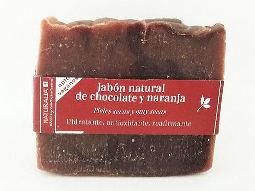 Jabón natural de Chocolate y Naranja
