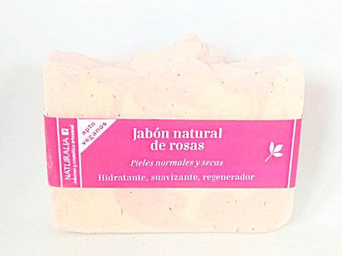 Jabón natural de Rosas