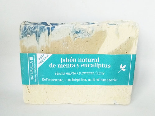 Jabón natural de Menta y Eucaliptus