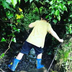 Walking down stream