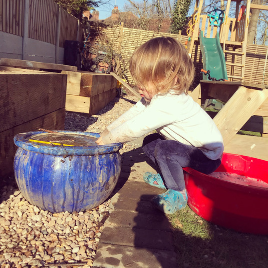 Messy play - mud kitchen