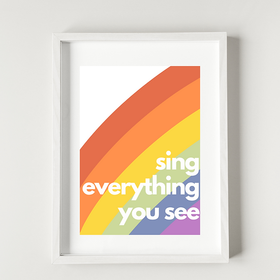 Sing everything you see - Poster