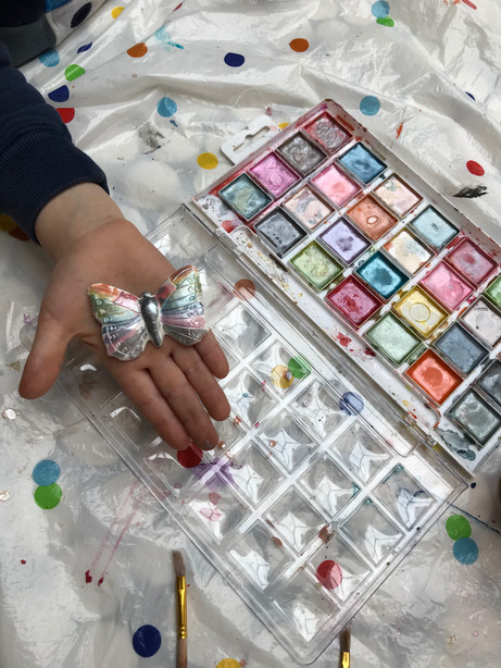 Painting with watercolours