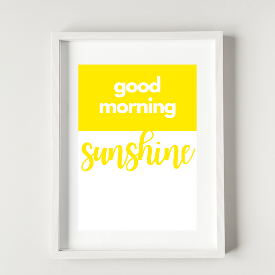 Good morning sunshine - Poster