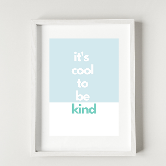 It's cool to be kind - Poster