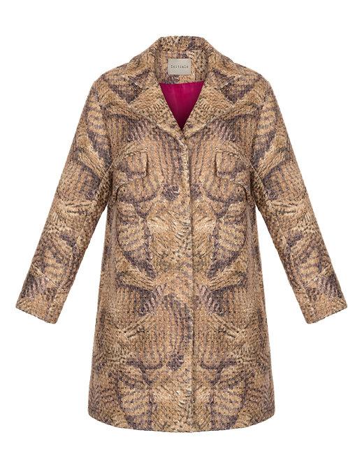 Пальто А-силуэта цвета кэмел Initials