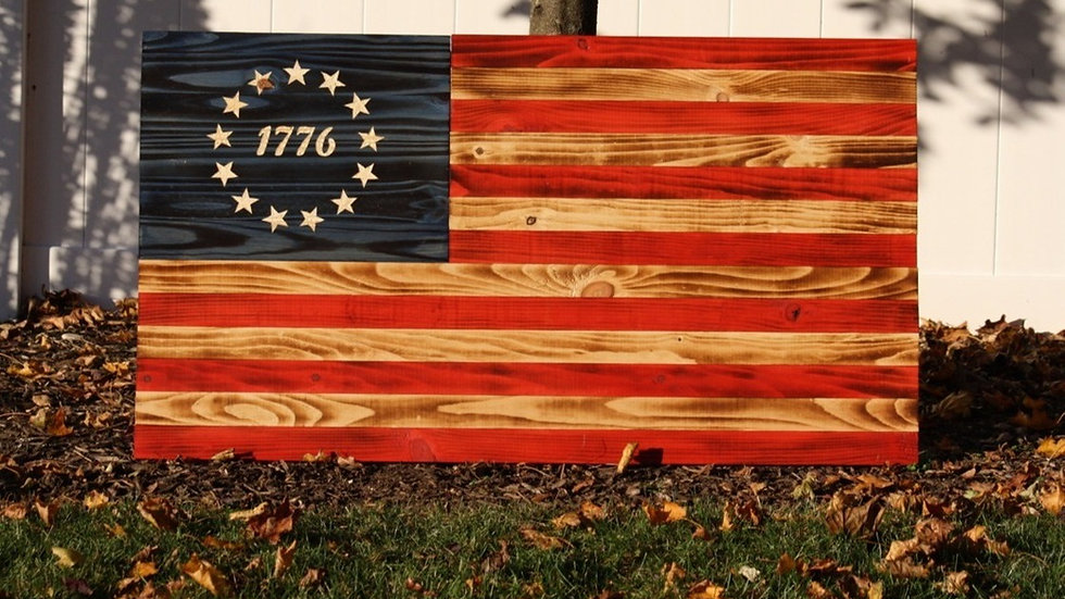 1776 Wooden American Flag