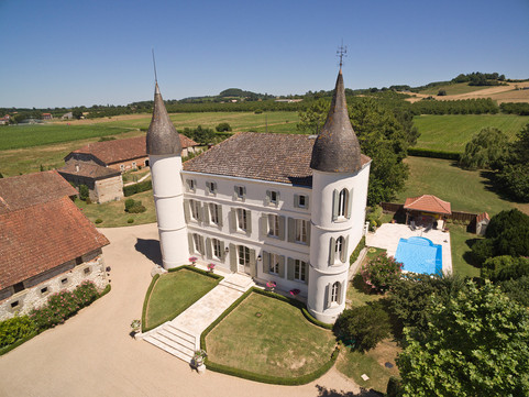 Immaculate Chateau aerial view