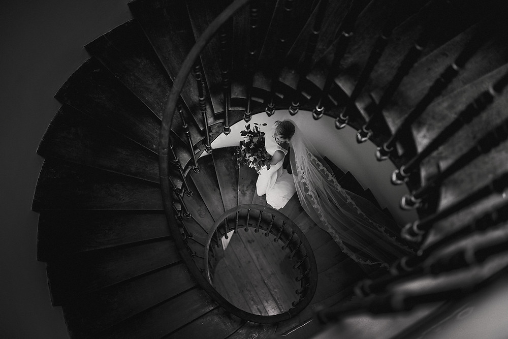 Stairwell wedding