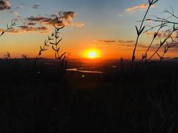 Por do sol no Vale do Rio Grande