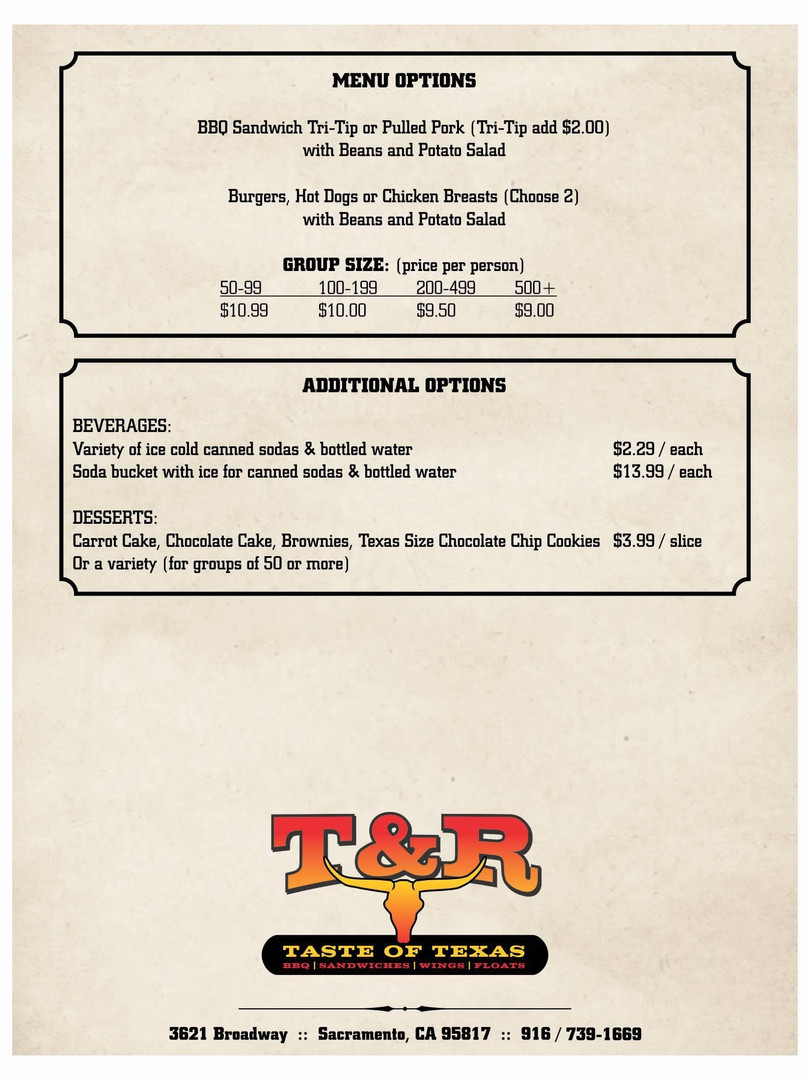 T and R BBQ catering 2