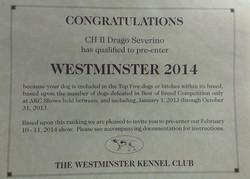 Westminster Invite 2014