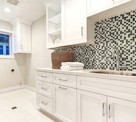 Transitional Laundry Room