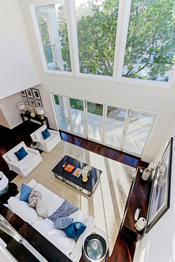 Top view of Transitional Family Room