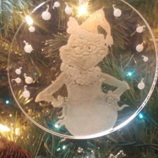 Grinch as Santa Ornament