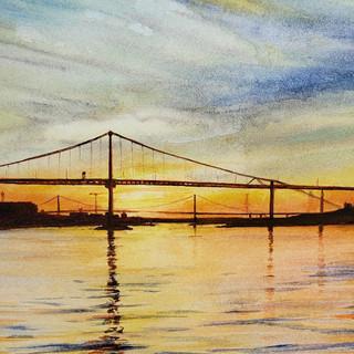 Halifax Bridges at Sunset