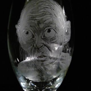 Gollum craft beer/wine glass