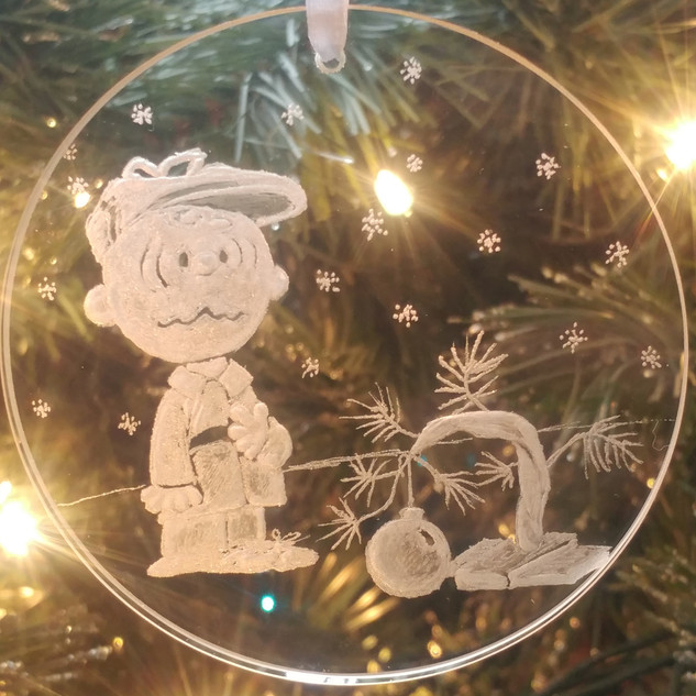 Charlie Brown & the tree ornament