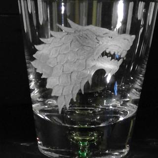 Stark house whisky glass