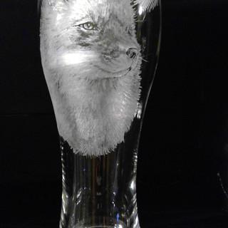 Fox Beer Glass