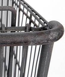 Shopping cart after stripping process