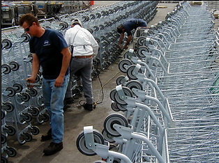 Shopping cart cleaning and repair services