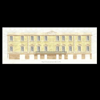 """Print of """"Palazzo di Genova Prà""""."""