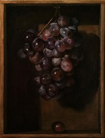 grappolo d'uva, olio su tela, cm30x40.jp