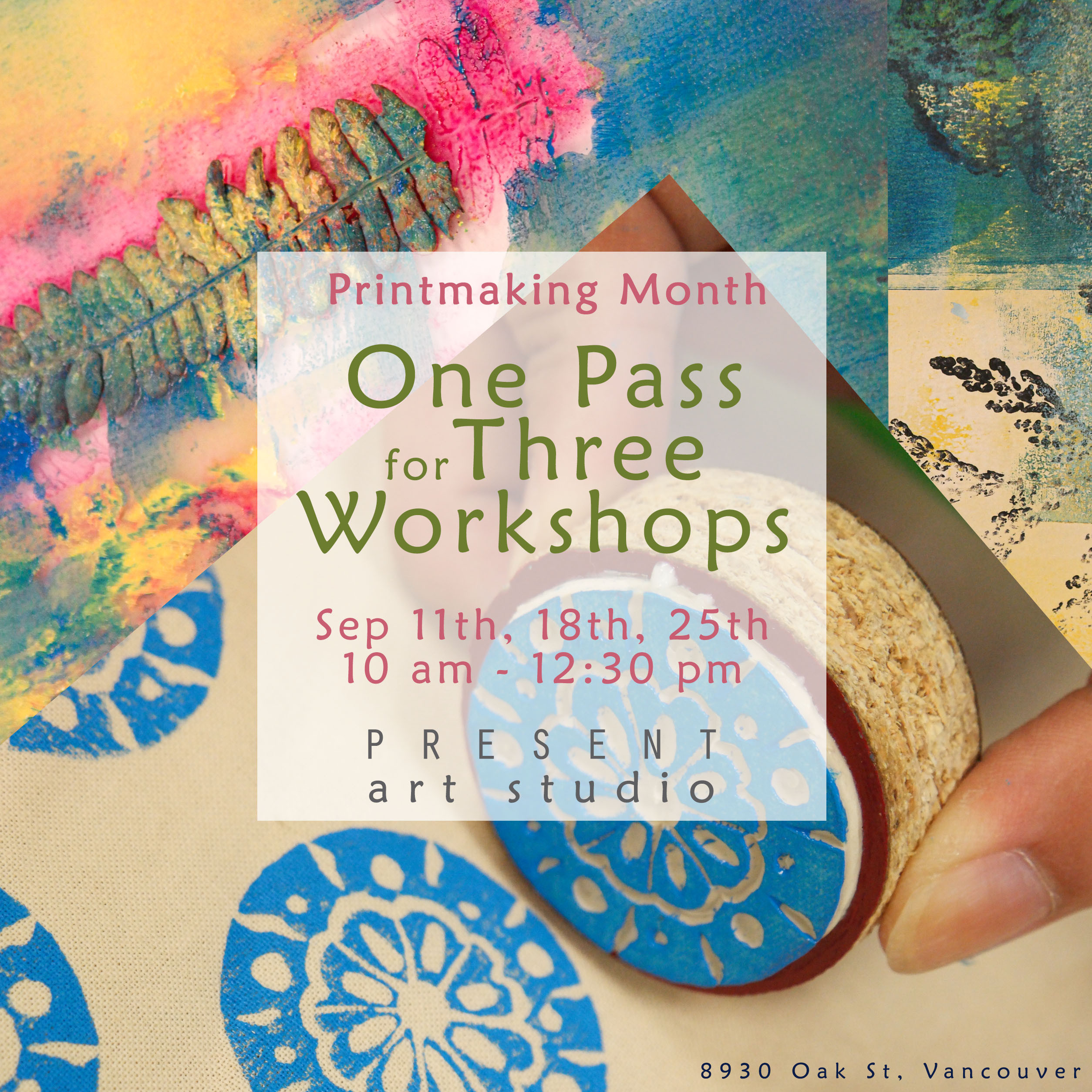 ONE pass for THREE workshops!