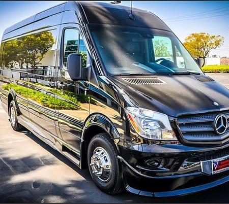 Black Mercedes Party Bus Limousine