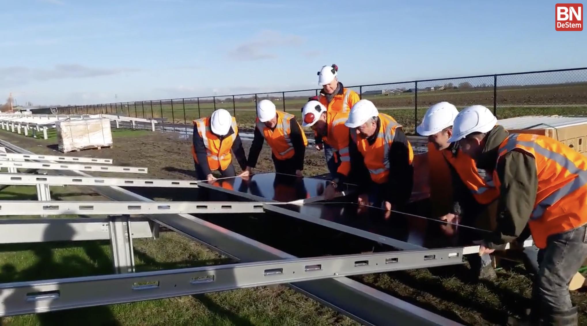 Zonnepark Rilland in aanbouw