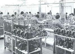 Склад первых бензопил Oleo-Mac. Италия